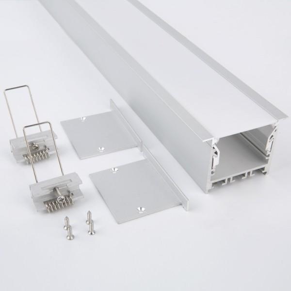 LED Deckeneinbau Lichtleiste mit 60mm breite