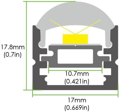 LED Wand-/ Deckenprofil LE-MD