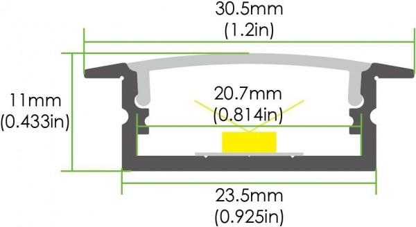 LED Einbaulichtleiste LE-AR3