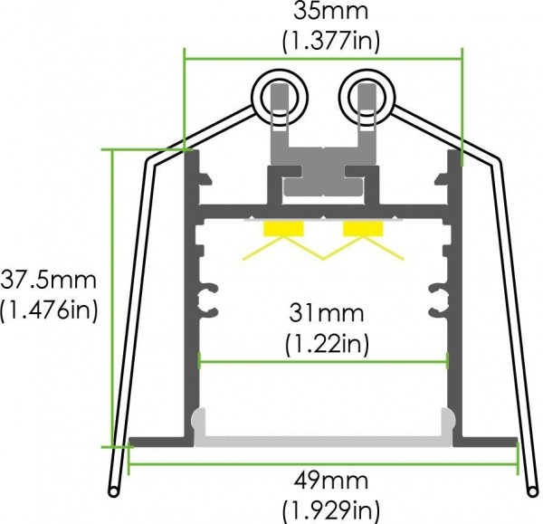 LED Deckeneinbau Lichtleiste LE-WN31