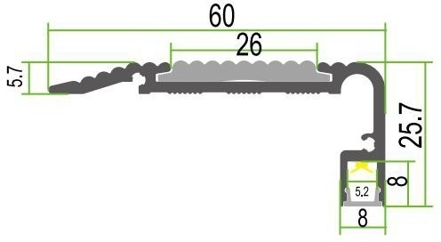Zubehör Antirutschmatte für LED Stufenprofil